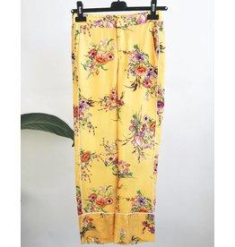 Pantalon fluide à imprimé floral