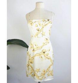 Robe courte imprimée avec bretelles ajustables