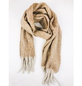 Ultra Soft Plush Scarf - Taupe