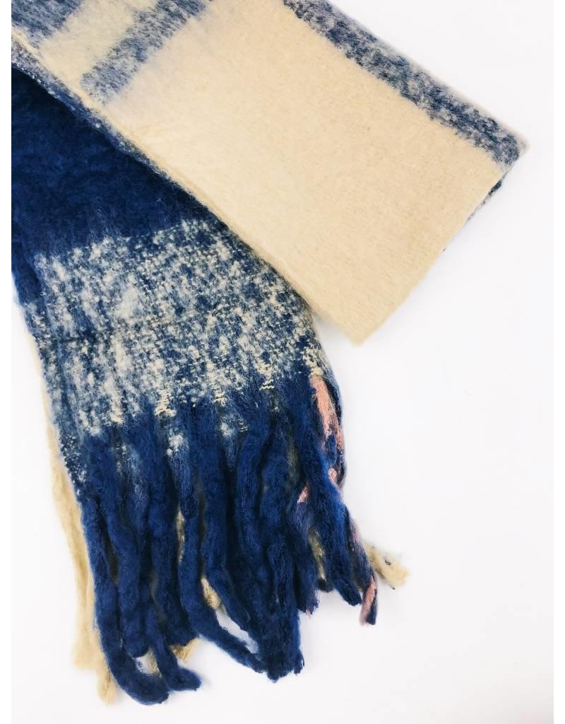 Écharpe ultra douce multicolors - Bleu Marine