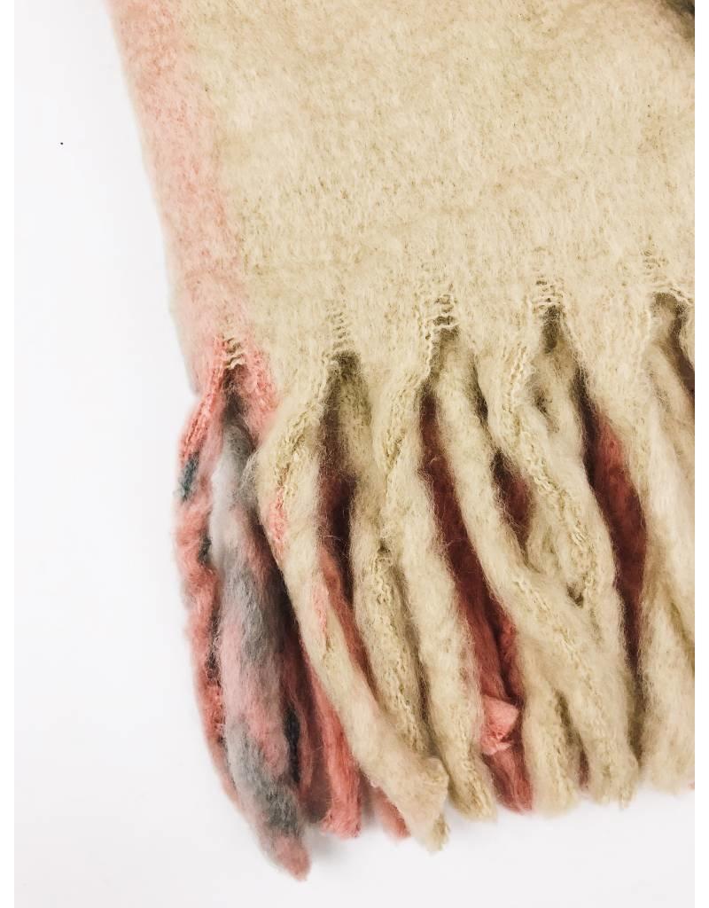 Écharpe ultra douce multicolors - Rose