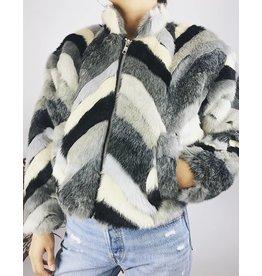Multicolor Faux-Fur Teddy Jacket