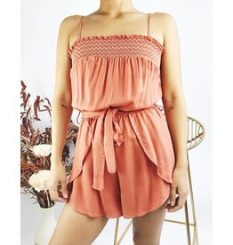 Adjustable Strap Romper with Belt