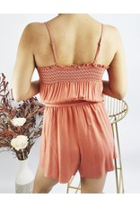 Combishort à bretelles ajustable avec ceinture