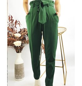 High Waisted Fluid Pants With Decorative Seams