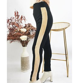High Waisted Leggings With Contrast Side Bands