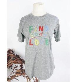 T-shirt basique à message