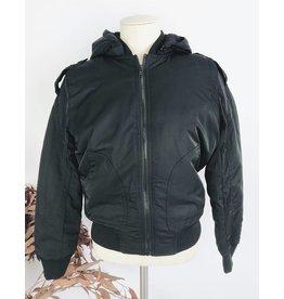 Hooded Black Bomber Jacket