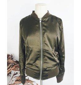 Silk Aspect Bomber Jacket