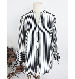 Striped Half Sleeves Shirt With Knot Details