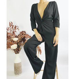 Jumpsuit With Twist Detail and Open Back