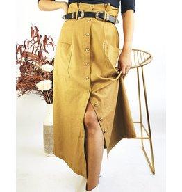 Jupe mi-longue boutonnée style vintage