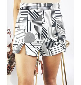 Modern Print High Waisted Shorts