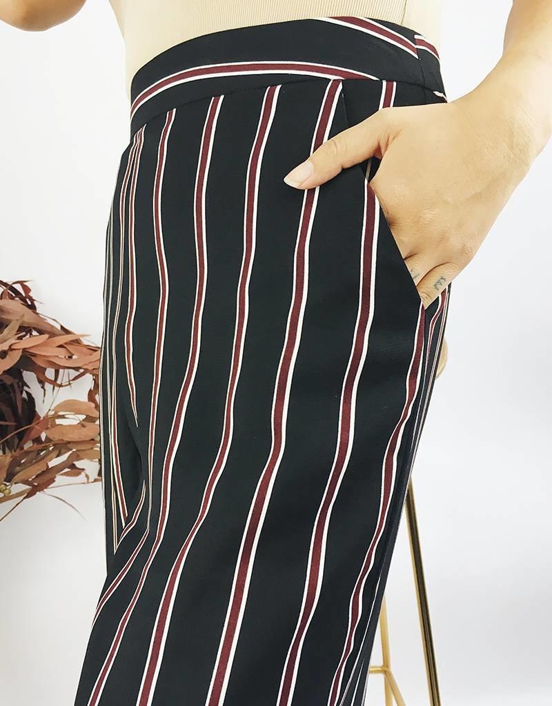 High Waisted Striped Pants