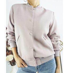 Pink Classic Cut Bomber Jacket