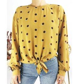 Knot Polka Dot Shirt