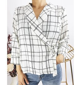Wrap Style Shirt With Half Sleeves