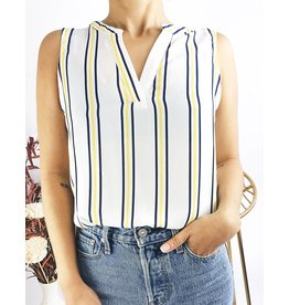 Off Shoulder Sleeves Striped Shirt