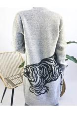 Cardigan avec imprimé tigre