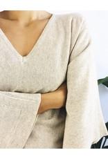 Pull à col v avec manches kimono