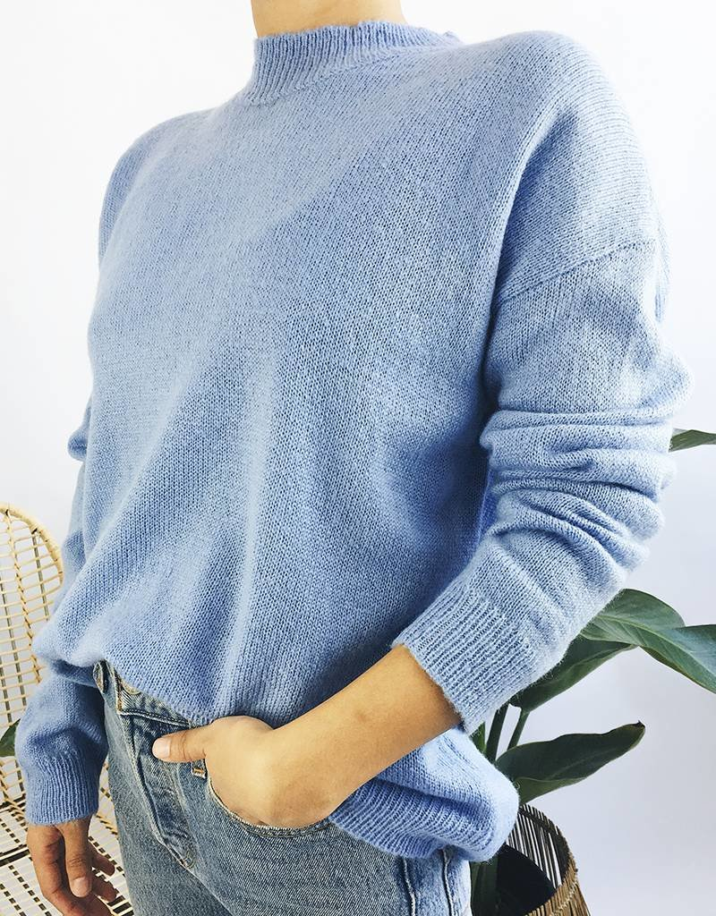 Oversized Knit Mock Neck