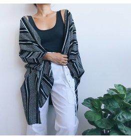 Kimono rayé à manches longues