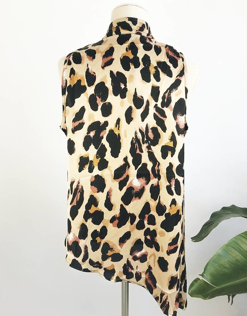 Haut style croisé à imprimé léopard