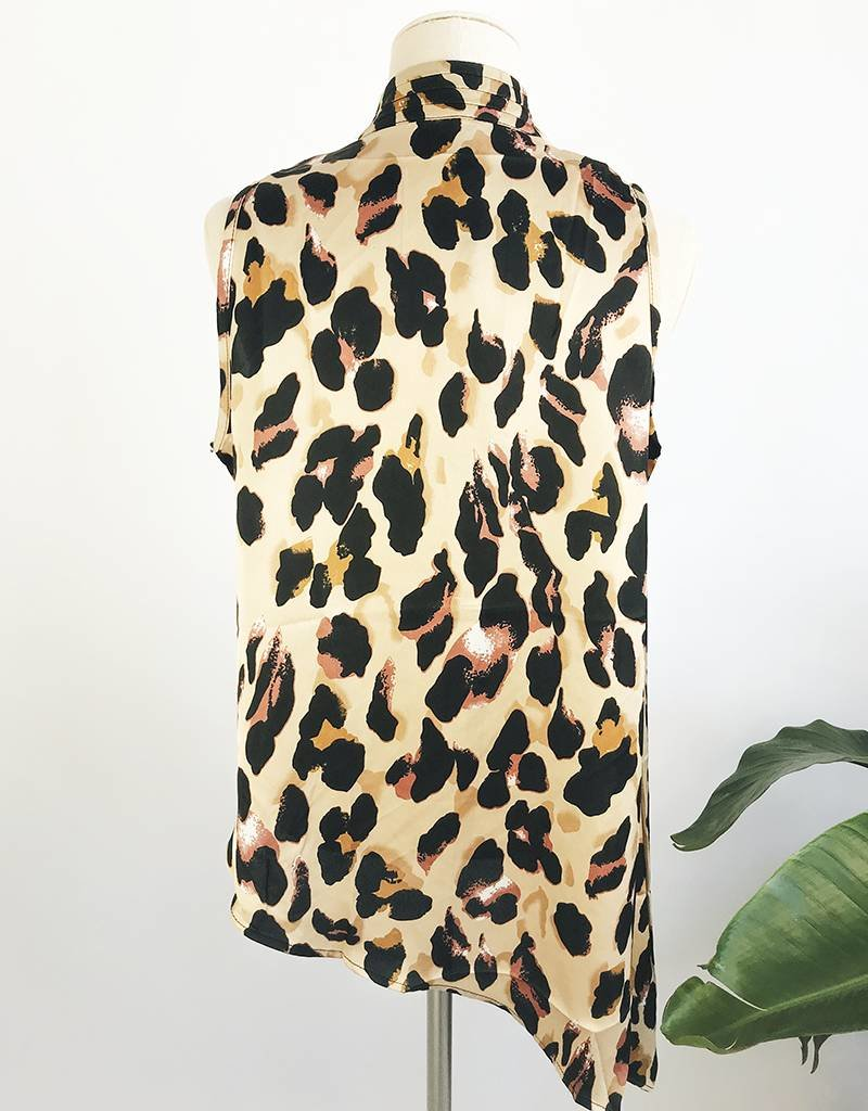 Leopard Print Wrap Design Top
