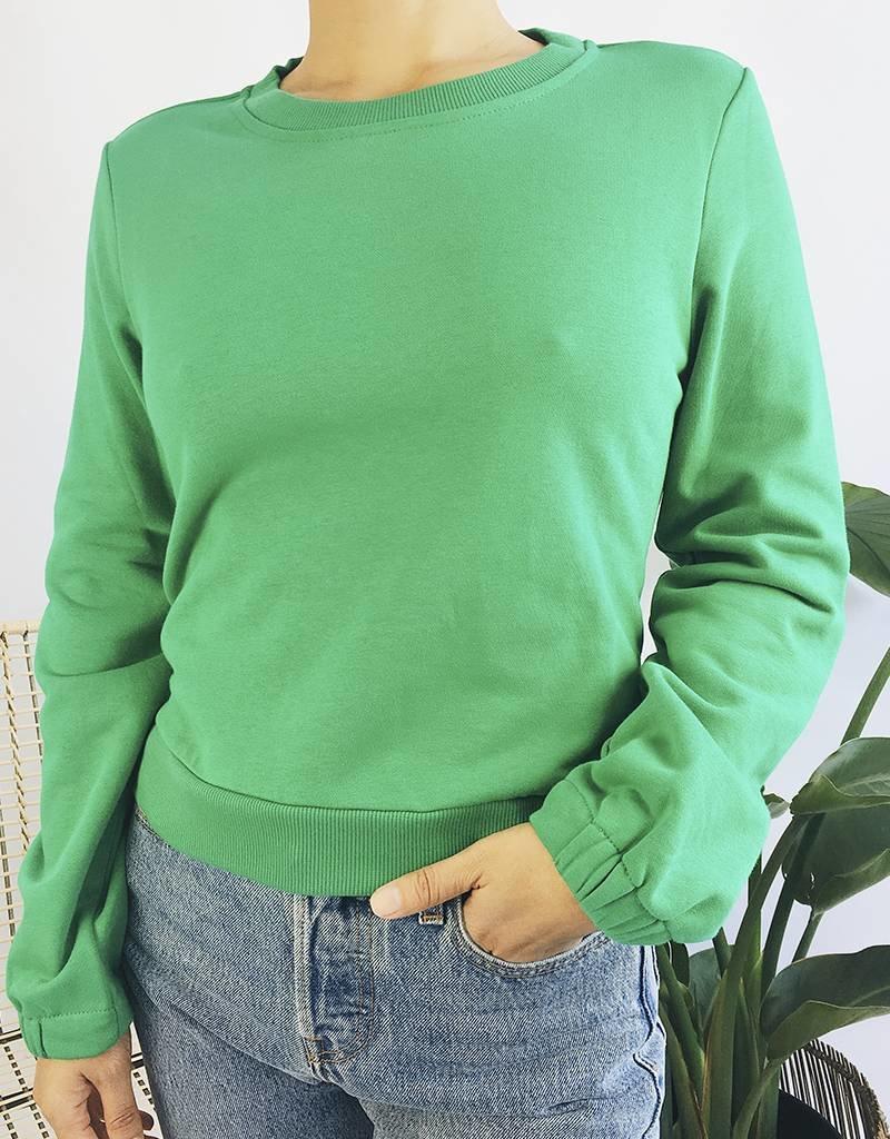 Sweat-shirt à attaches au dos