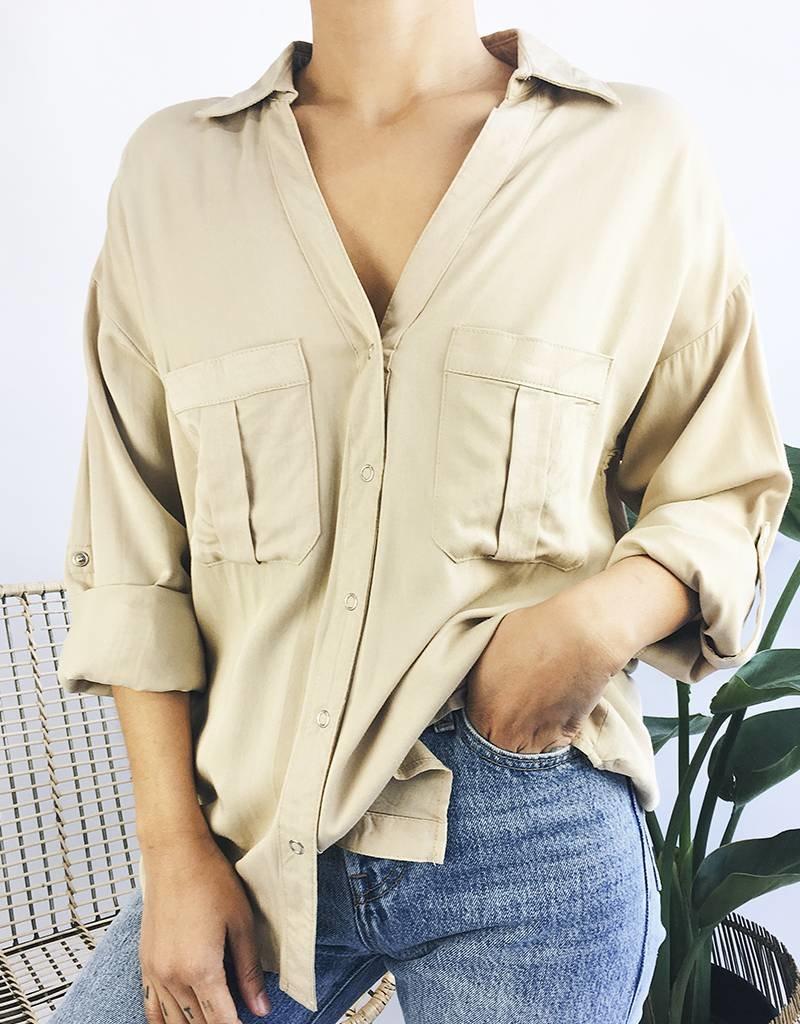Classic Safari Shirt - Beige