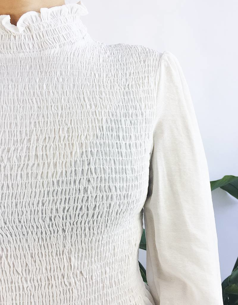 Victorian Smocked Top with Long Sleeve