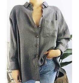 Chemise à boutons oversize