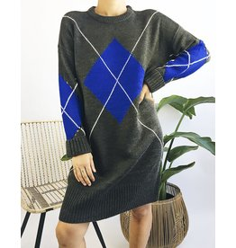 Diamond Pattern Knit Dress