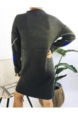 Diamond Pattern Knit Dress