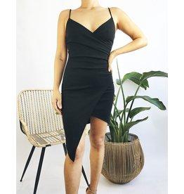 Bodycon Asymmetrical Black Dress