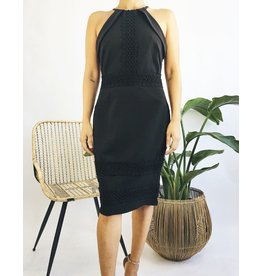 Halter Neck Mid-Length Dress