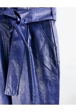 Faux Leather Paper Bag Pants