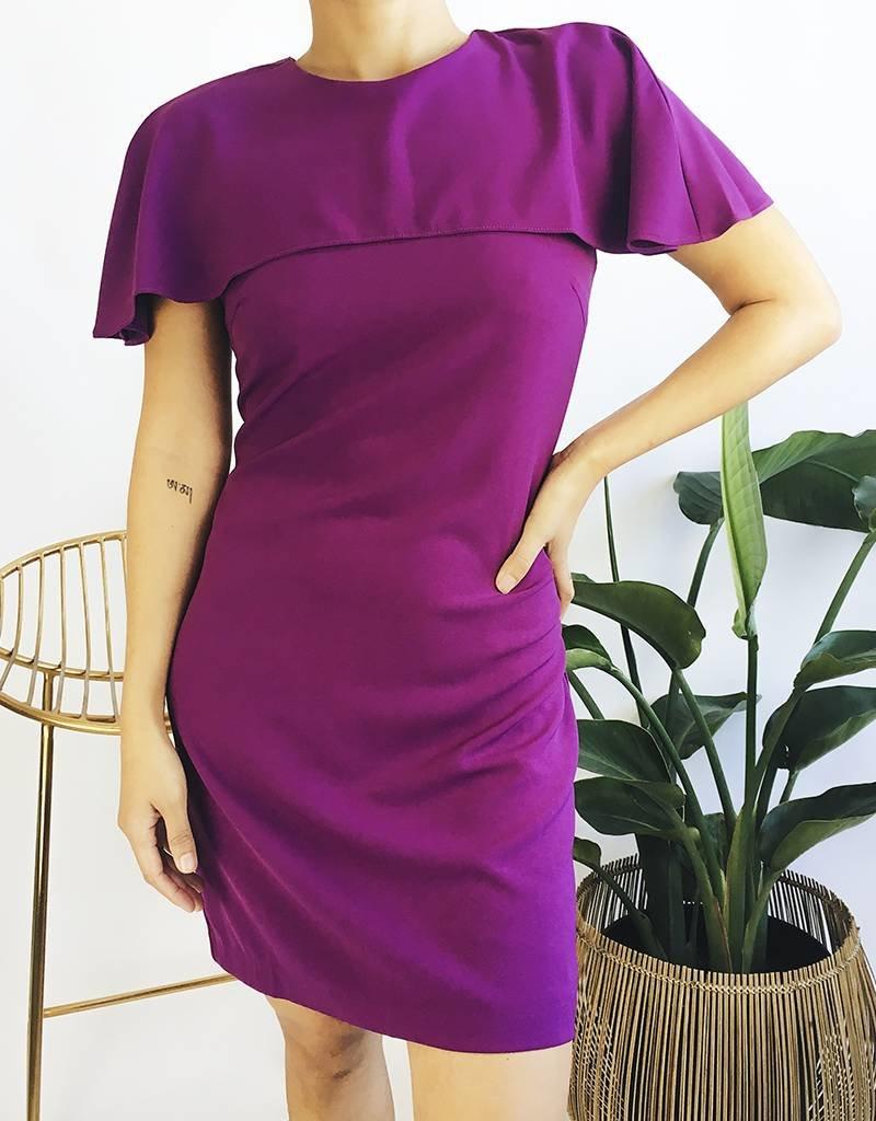 Cape Style Mid-Length Dress