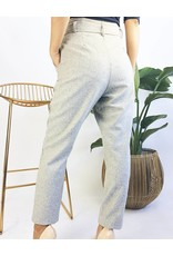 High Rise Pants With Belt