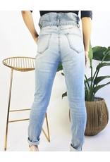 Paper Bag Skinny Jeans with Belt