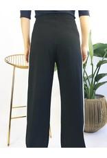 Pantalon large à taille haute avec bandes blanches