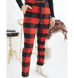 Pantalon à carreaux style bûcheron