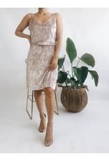 Velvet Slip Dress - Pink