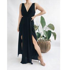 Double Slit Wrap Style Dress
