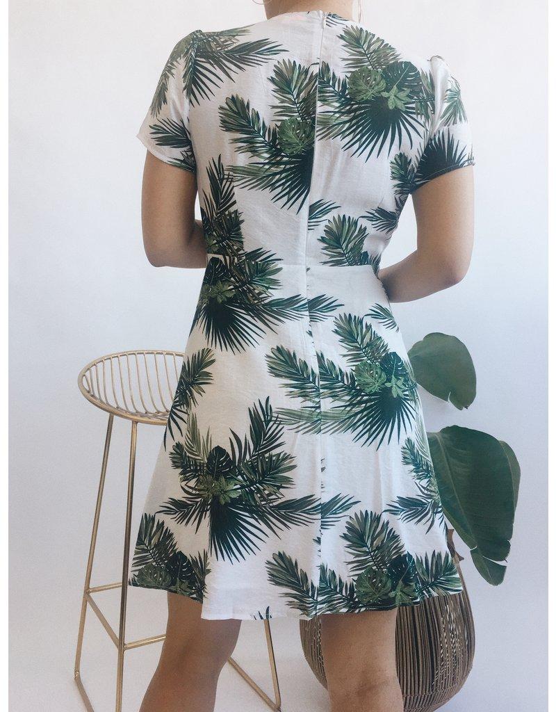 Tropical Print Short Dress