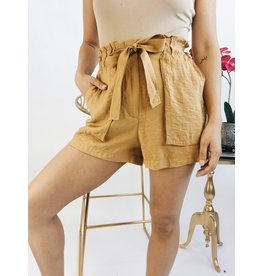 Shorts taille-haute - Moutard