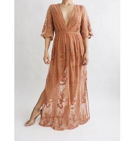 Robe Victoria - Rose ancienne