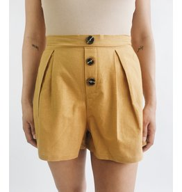 Paris Shorts - Mustard