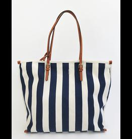 Mari Stripe Tote Bag - Blue