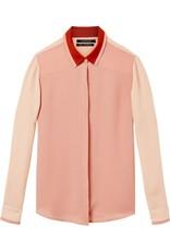 Chemise à empiècements de couleur